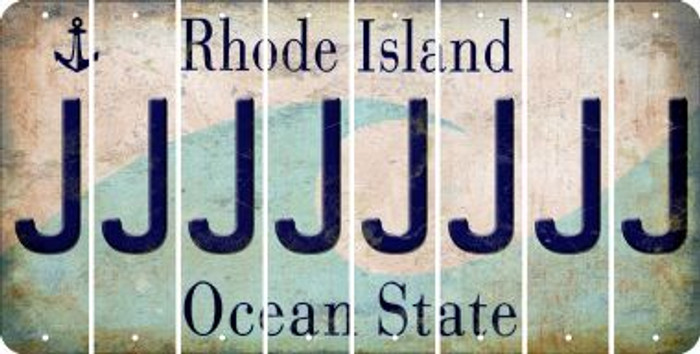 Rhode Island J Cut License Plate Strips (Set of 8) LPS-RI1-010