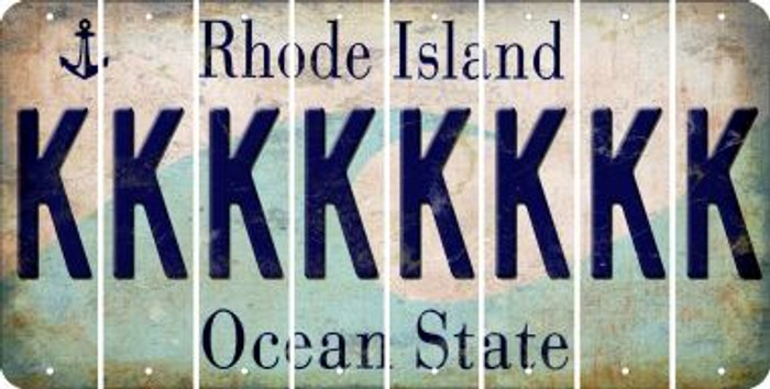 Rhode Island K Cut License Plate Strips (Set of 8) LPS-RI1-011