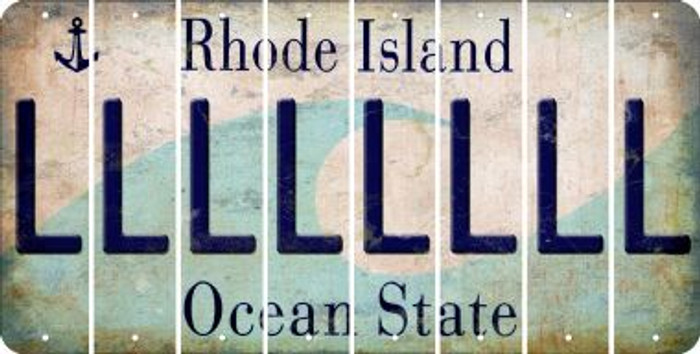 Rhode Island L Cut License Plate Strips (Set of 8) LPS-RI1-012