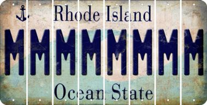 Rhode Island M Cut License Plate Strips (Set of 8) LPS-RI1-013