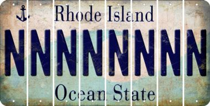 Rhode Island N Cut License Plate Strips (Set of 8) LPS-RI1-014