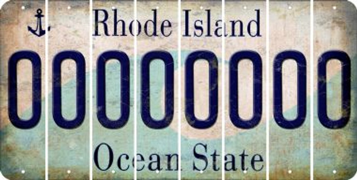 Rhode Island O Cut License Plate Strips (Set of 8) LPS-RI1-015