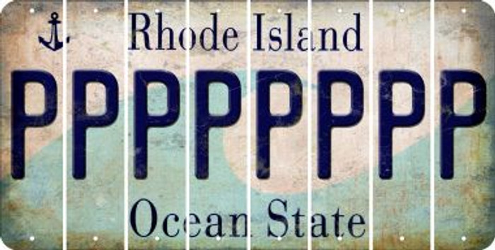 Rhode Island P Cut License Plate Strips (Set of 8) LPS-RI1-016