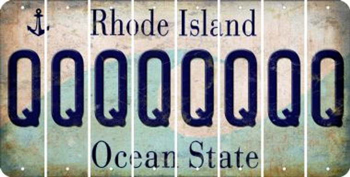 Rhode Island Q Cut License Plate Strips (Set of 8) LPS-RI1-017