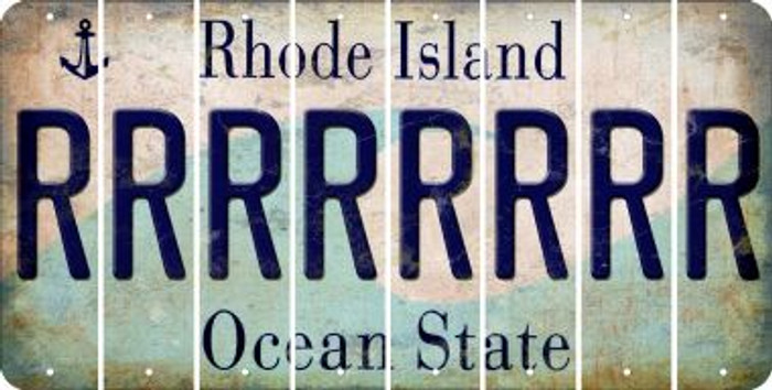 Rhode Island R Cut License Plate Strips (Set of 8) LPS-RI1-018