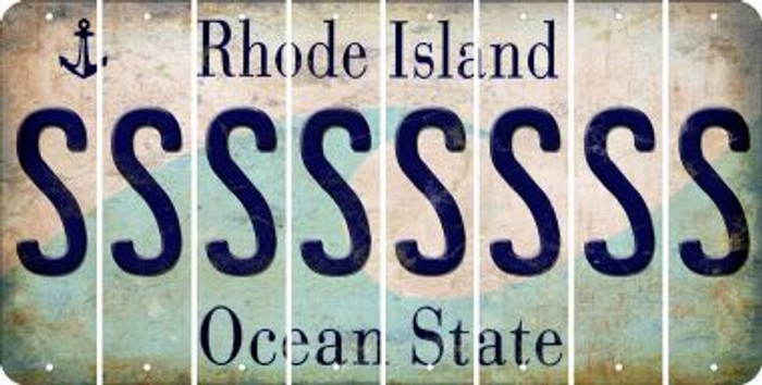 Rhode Island S Cut License Plate Strips (Set of 8) LPS-RI1-019