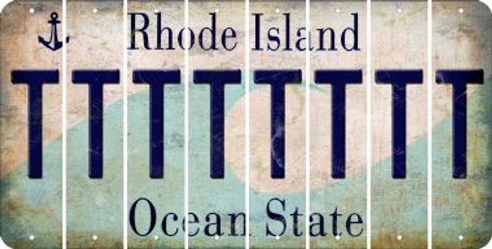 Rhode Island T Cut License Plate Strips (Set of 8) LPS-RI1-020
