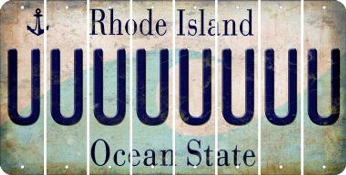 Rhode Island U Cut License Plate Strips (Set of 8) LPS-RI1-021