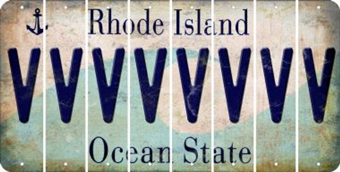 Rhode Island V Cut License Plate Strips (Set of 8) LPS-RI1-022