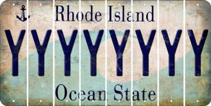 Rhode Island Y Cut License Plate Strips (Set of 8) LPS-RI1-025