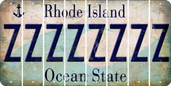 Rhode Island Z Cut License Plate Strips (Set of 8) LPS-RI1-026