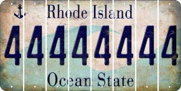Rhode Island 4 Cut License Plate Strips (Set of 8) LPS-RI1-031