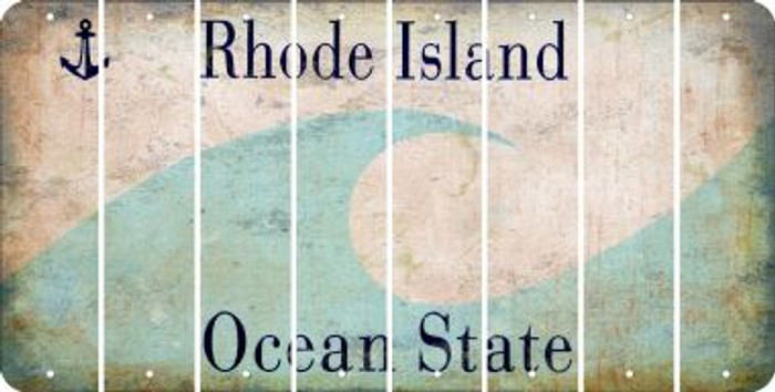 Rhode Island BLANK Cut License Plate Strips (Set of 8) LPS-RI1-037