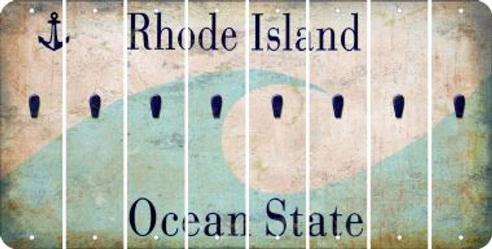 Rhode Island APOSTROPHE Cut License Plate Strips (Set of 8) LPS-RI1-038
