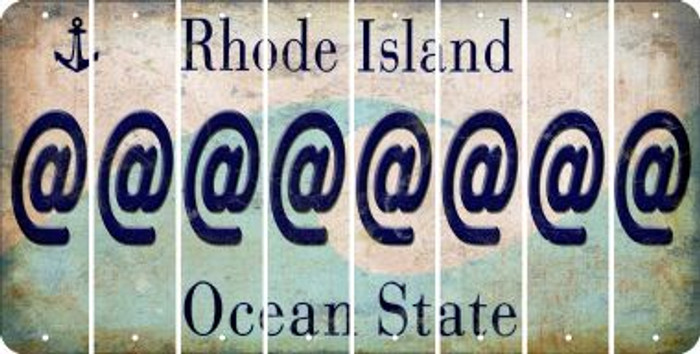 Rhode Island ASPERAND Cut License Plate Strips (Set of 8) LPS-RI1-039