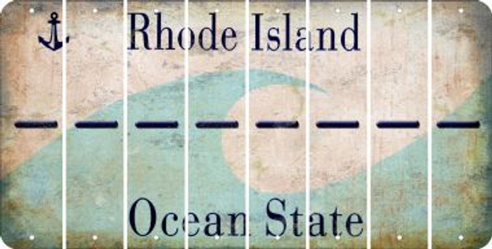 Rhode Island HYPHEN Cut License Plate Strips (Set of 8) LPS-RI1-044