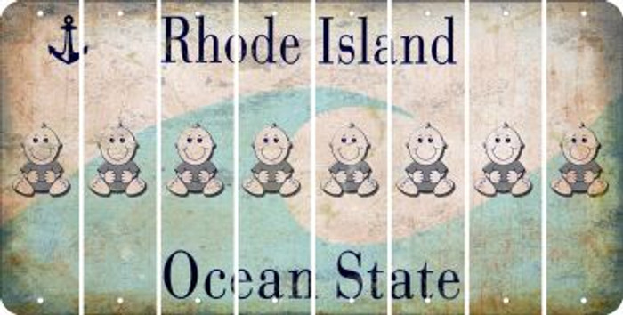 Rhode Island BABY BOY Cut License Plate Strips (Set of 8) LPS-RI1-066
