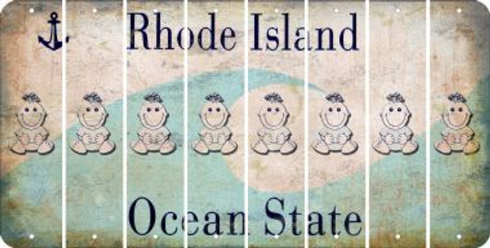 Rhode Island BABY GIRL Cut License Plate Strips (Set of 8) LPS-RI1-067