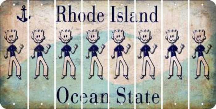Rhode Island DAD Cut License Plate Strips (Set of 8) LPS-RI1-071