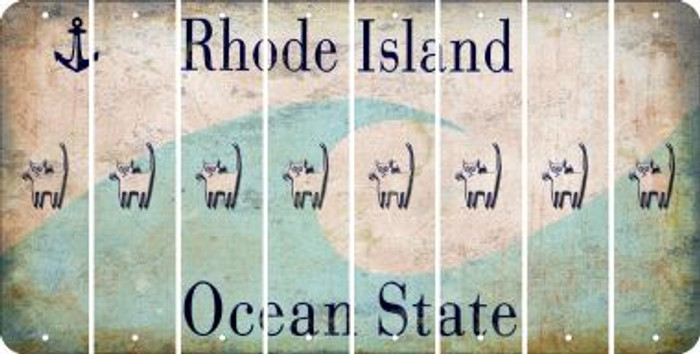 Rhode Island CAT Cut License Plate Strips (Set of 8) LPS-RI1-072