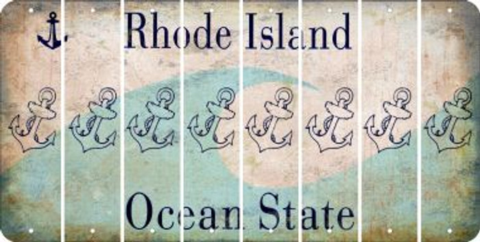 Rhode Island ANCHOR Cut License Plate Strips (Set of 8) LPS-RI1-093