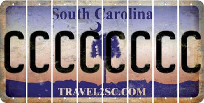 South Carolina C Cut License Plate Strips (Set of 8) LPS-SC1-003