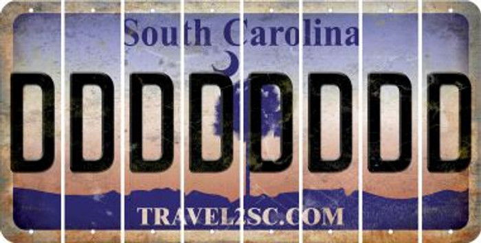 South Carolina D Cut License Plate Strips (Set of 8) LPS-SC1-004