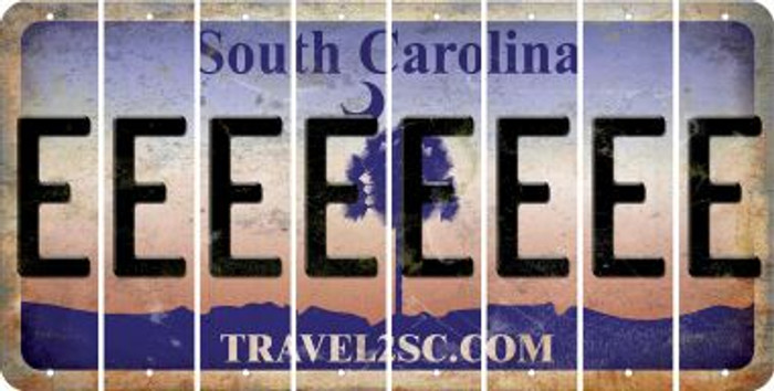 South Carolina E Cut License Plate Strips (Set of 8) LPS-SC1-005