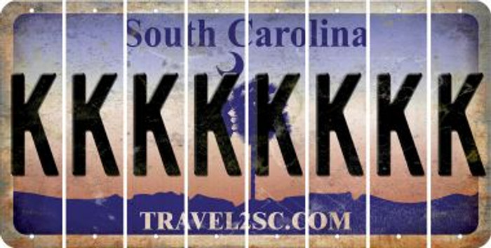 South Carolina K Cut License Plate Strips (Set of 8) LPS-SC1-011