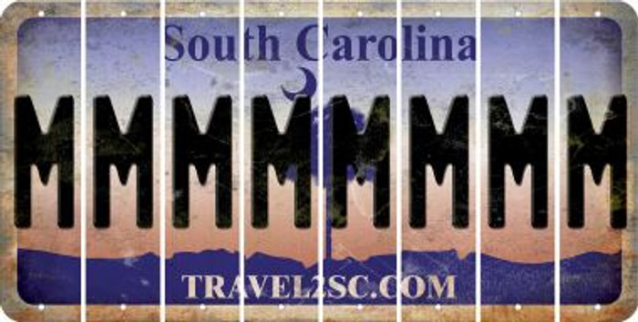 South Carolina M Cut License Plate Strips (Set of 8) LPS-SC1-013