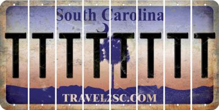 South Carolina T Cut License Plate Strips (Set of 8) LPS-SC1-020