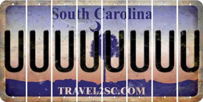 South Carolina U Cut License Plate Strips (Set of 8) LPS-SC1-021
