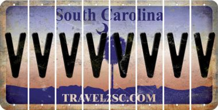 South Carolina V Cut License Plate Strips (Set of 8) LPS-SC1-022