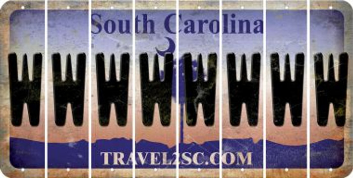 South Carolina W Cut License Plate Strips (Set of 8) LPS-SC1-023
