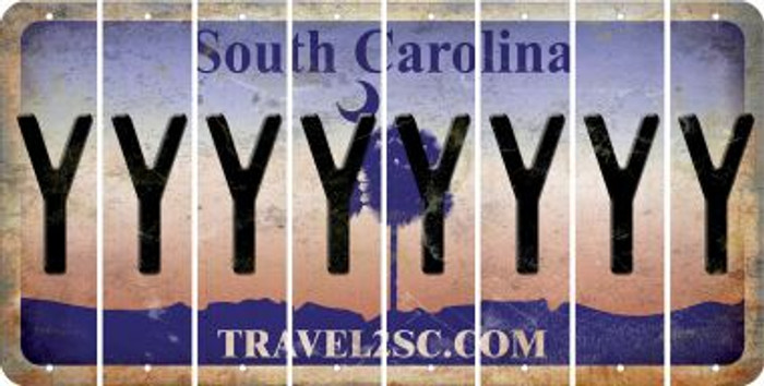 South Carolina Y Cut License Plate Strips (Set of 8) LPS-SC1-025