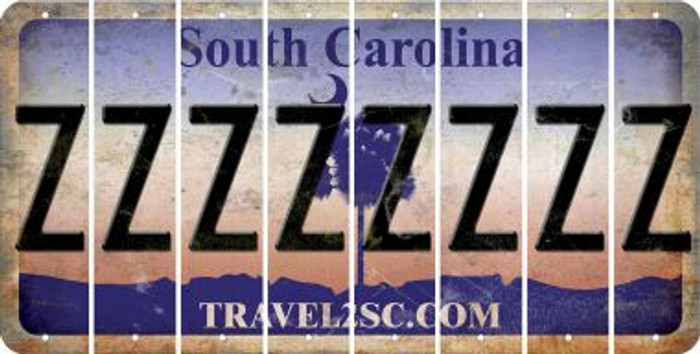 South Carolina Z Cut License Plate Strips (Set of 8) LPS-SC1-026