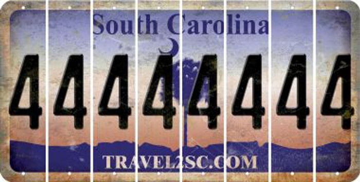 South Carolina 4 Cut License Plate Strips (Set of 8) LPS-SC1-031