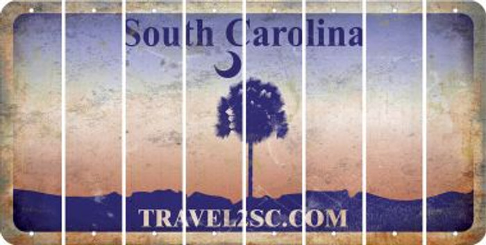 South Carolina BLANK Cut License Plate Strips (Set of 8) LPS-SC1-037