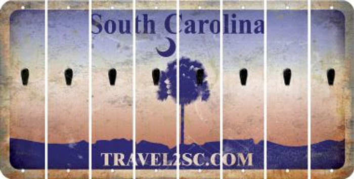 South Carolina APOSTROPHE Cut License Plate Strips (Set of 8) LPS-SC1-038