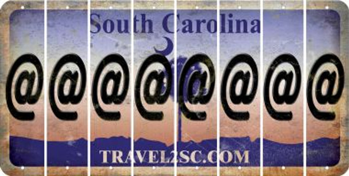 South Carolina ASPERAND Cut License Plate Strips (Set of 8) LPS-SC1-039