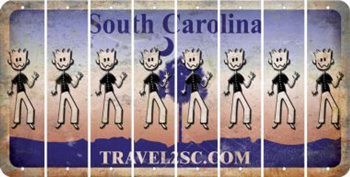 South Carolina DAD Cut License Plate Strips (Set of 8) LPS-SC1-071
