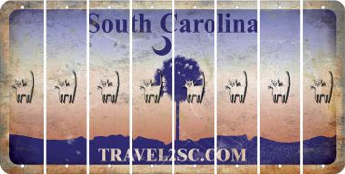 South Carolina CAT Cut License Plate Strips (Set of 8) LPS-SC1-072