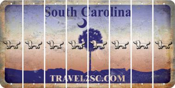 South Carolina DOG Cut License Plate Strips (Set of 8) LPS-SC1-073