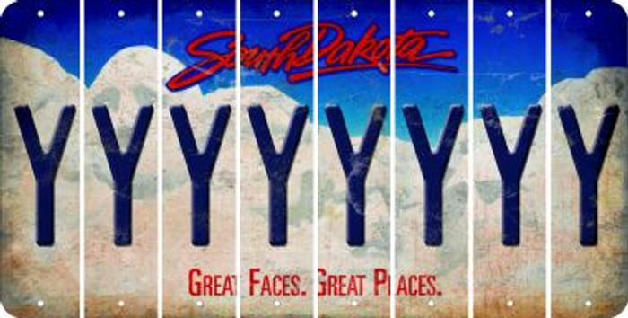 South Dakota Y Cut License Plate Strips (Set of 8) LPS-SD1-025