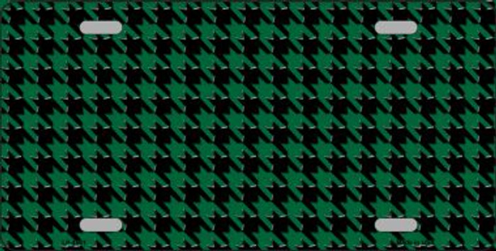 Green Black Houndstooth Wholesale Metal Novelty License Plate LP-4561