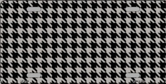 Grey Black Houndstooth Wholesale Metal Novelty License Plate LP-4566
