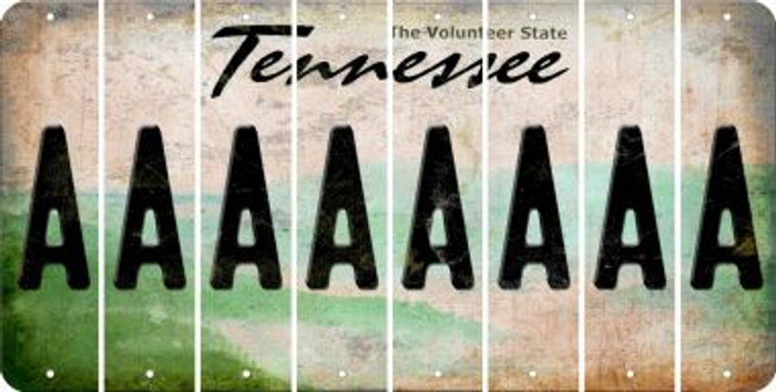 Tennessee A Cut License Plate Strips (Set of 8) LPS-TN1-001