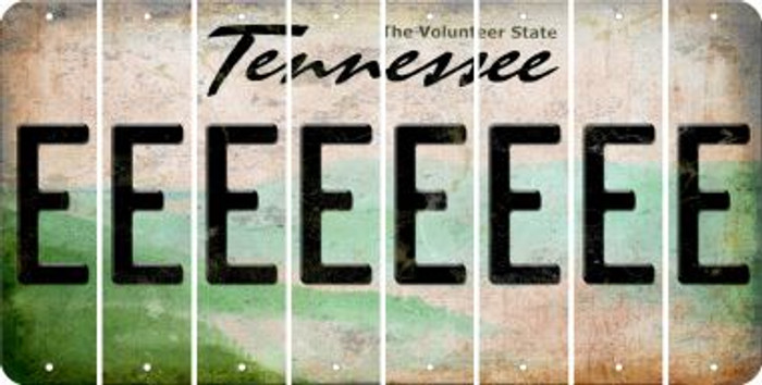 Tennessee E Cut License Plate Strips (Set of 8) LPS-TN1-005