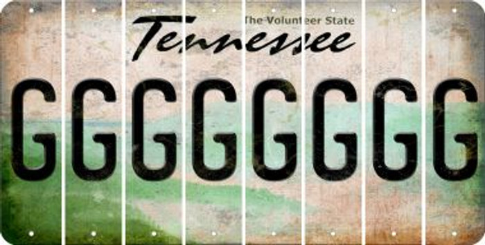 Tennessee G Cut License Plate Strips (Set of 8) LPS-TN1-007