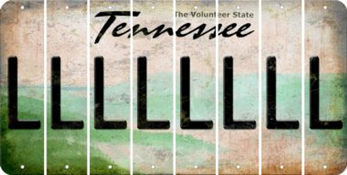 Tennessee L Cut License Plate Strips (Set of 8) LPS-TN1-012